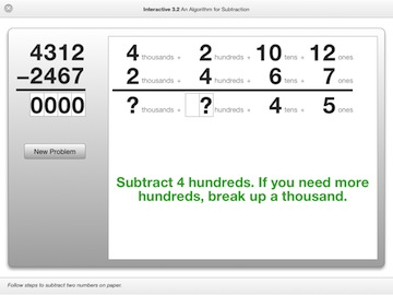 subtraction algorithm